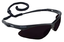 Nemesis Black Frame - Smoke Lens Anti Fog Glasses