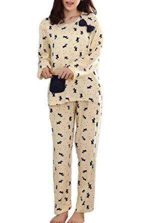 Cute bowknot sleepwear pajamas