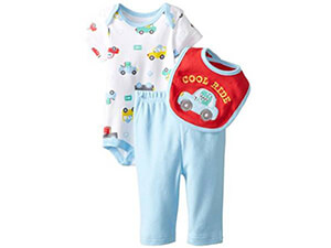 BON BEBE Baby-Boys Newborn Cool Ride 3 Piece Pant Set