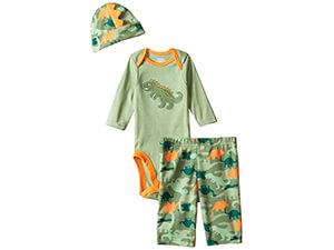 Gerba Baby Boys' Three -Piece Bodysuit, Cap And Pant Set
