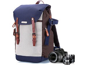 Camera backpack for women