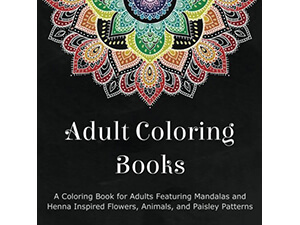 A Coloring Book for Adults Inspired Flowers, Paisley and Animals Patterns