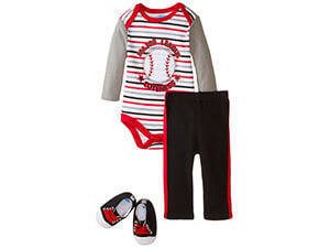 BON BEBE Baby Boys' 3 Piece Set with Bodysuit, Pants and Sneakers