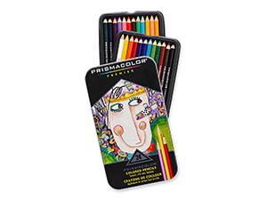 Prismacolor Premier Soft Core Colored Pencil Set of 24 Assorted Colors (3597T)