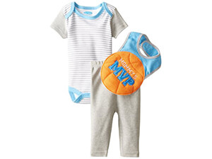 BON BEBE Baby-Boys Newborn Mommy's MVP 3 Piece Pant Set