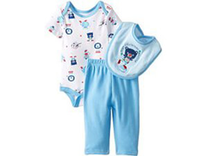 BON BEBE Baby Boy- Boys Newborn Just Clowning Around 3 Piece Pant Set