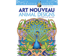 Nouveau Animal Designs Dover Creative Haven Art Coloring Book