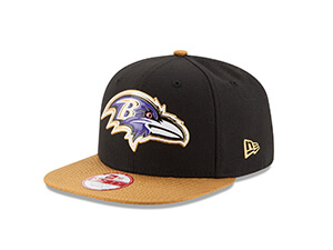 NFL Gold Collection Gold Visor 9FIFTY Original Fit Snapback Cap