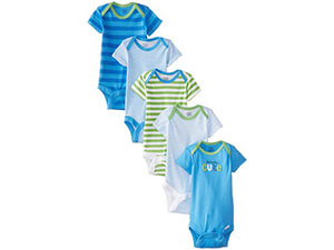 Gerber Baby Boys' Five-Pack Variety Bodysuits