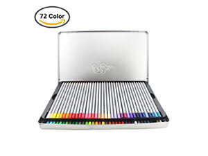Huhuhero Macro 72 Color Pencils Set with Metal Tin