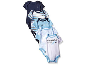 Nautica Baby Boys' Five-Pack Bodysuits