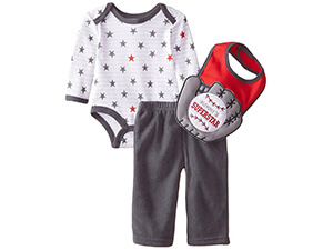 Bon Bebe Baby Boy's Trucks And Cars 3 Piece Pant Set
