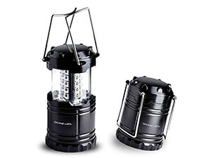 Camping lantern for outages, storms, emergencies and hiking