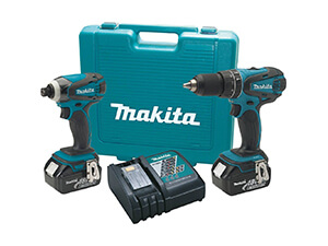 Makita Cordless Combo Kit with Two 4.0Ah Batteries