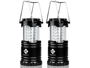 LED camping lantern flashlights eteckcity 2 pack portable outdoor