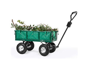 Folding Sides VonHaus All Terrain Heavy Duty Garden Cart