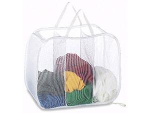 Deluxe Laundry Hamper - Pop Open Sorter Colors Vary