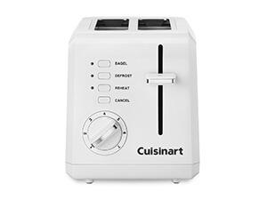 Conair Cuisinart CPT-122 2-Slice Compact Plastic Toaster (White)