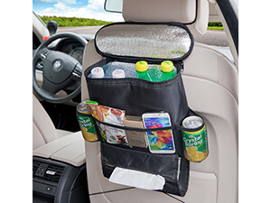Deler Insulated Auto Seat Back Organizers Bottle Drinks Holder / Multi-Pockets Travel Storage Bag