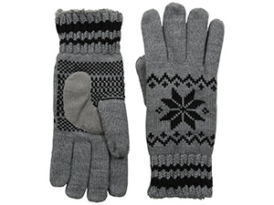 Swiss Snowflake Knit Gloves