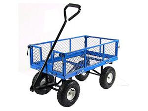 Sunnydaze Blue Utility Cart