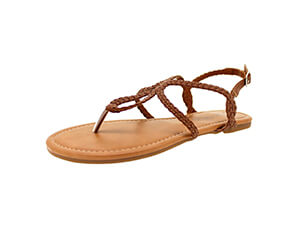 Sandalup Women's Braided Strap Sandals