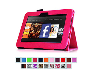 "Fintie Kindle Fire HD 7"" Slim Fit Leather Case"