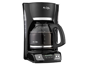 Mr.Coffee CGX23 12-Cup Programmable Coffee Maker, Black