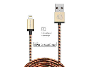 Lightning Cable, the KINGCOO6ft/2M Charger