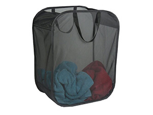 Black Single Light Weight Micro Mesh Hamper