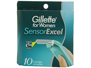 Gillette Sensor-Excel Cartridges for Women 10 Count