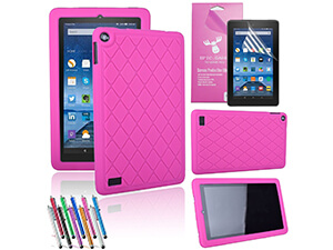 "Amazon Fire 7"" 2015 Case, EpicGadget- (Hot Pink)"