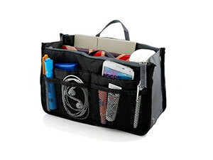 Go Beyond (TM) Travel Insert Organizer Compartment Bag