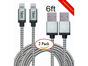 Yakonn the two pack 6ft Lightning cable