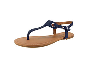 Sandalup Women's Claire Thong Flat Sandal