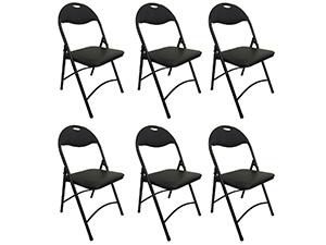 Heavy Duty Black Metal Folding Chair