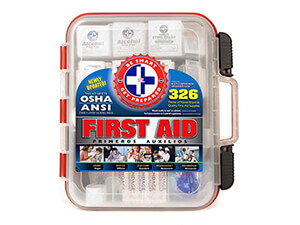 First Aid 326-piece Hard Red Case