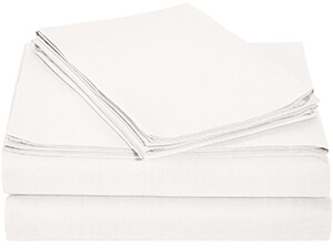 Lightweight Sheet Set - Queen, White