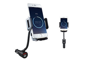 3-In-1 Car Mount+Car Charger+Voltage Detector,SOAIY Car Mount Charger Holder Cradle