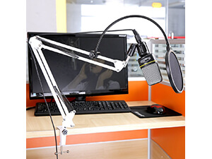 White Broadcasting Studio Microphone