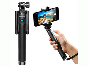 Spigen Selphie Stick (New Generation)- Bluetooth Selfie Stick with Remote Shutter