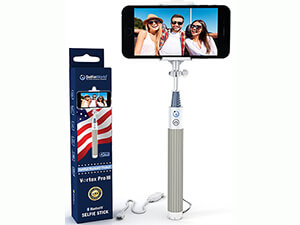 Selfie Stick by Selfie World, Bluetooth with Monopod Advanced Wireless Technology