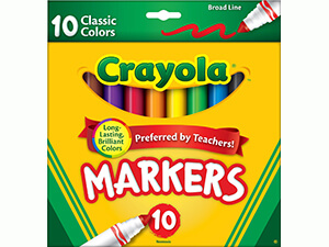 Crayola 10 Ct Classic Broad Line Markers