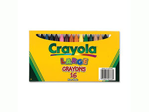 Crayola Large Crayons Box of 16 520336