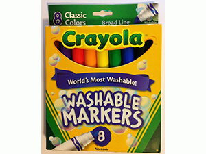 Crayola Broad Line Washable Markers, 8 Markers