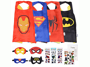 Superhero Cape and Mask Costumes Capes, Masks Stickers, and Tattoos