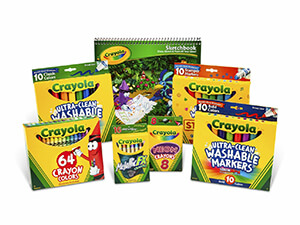 Crayola Crayons and Crayola Washable Marker Pack