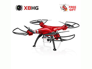 RC Quadcopter with 8MP Camera-Red