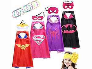 Sepco Superhero Costumes Girl with Glow Bracelets and HeadBand