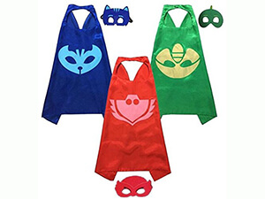 PJ Masks Costumes Catboy Owlette Gekko Mask with Cape